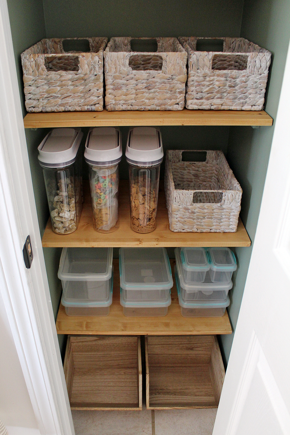 getting organized with new supplies