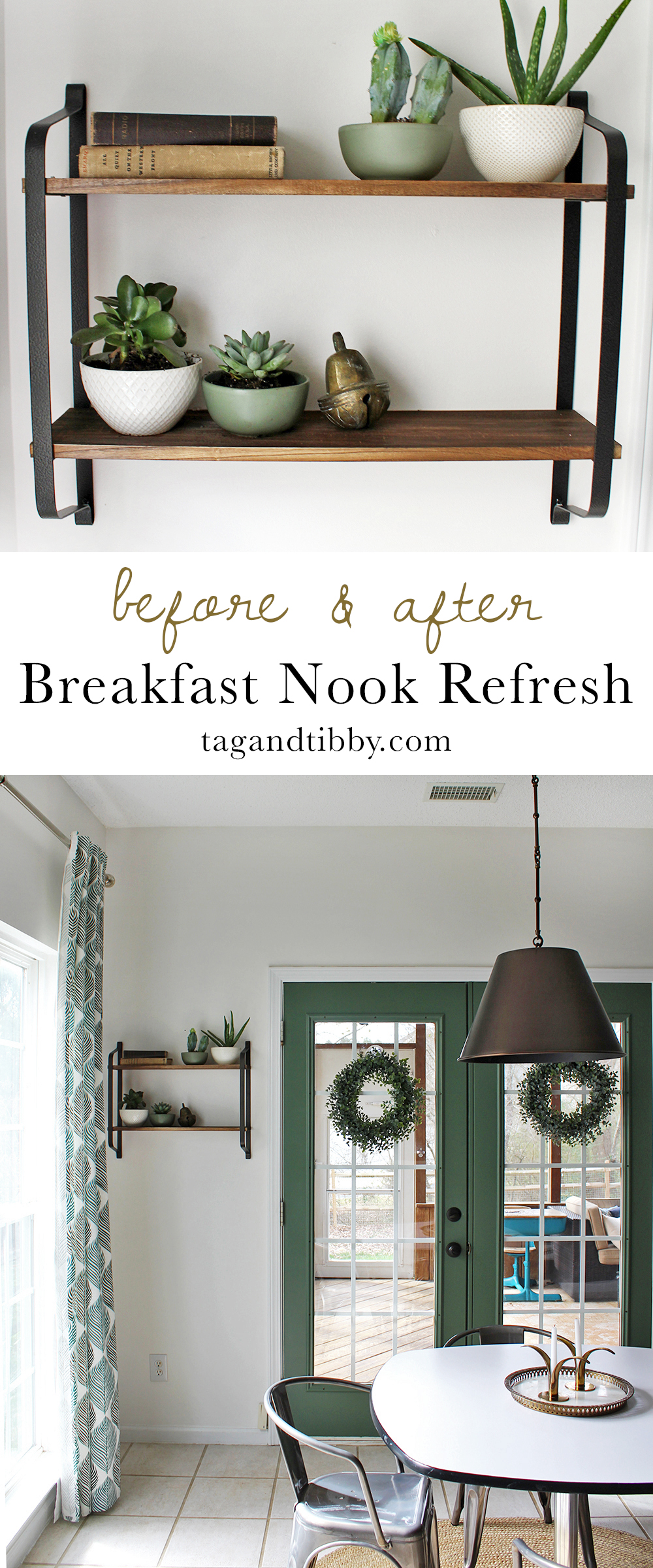 global inspired breakfast nook makeover on a budget