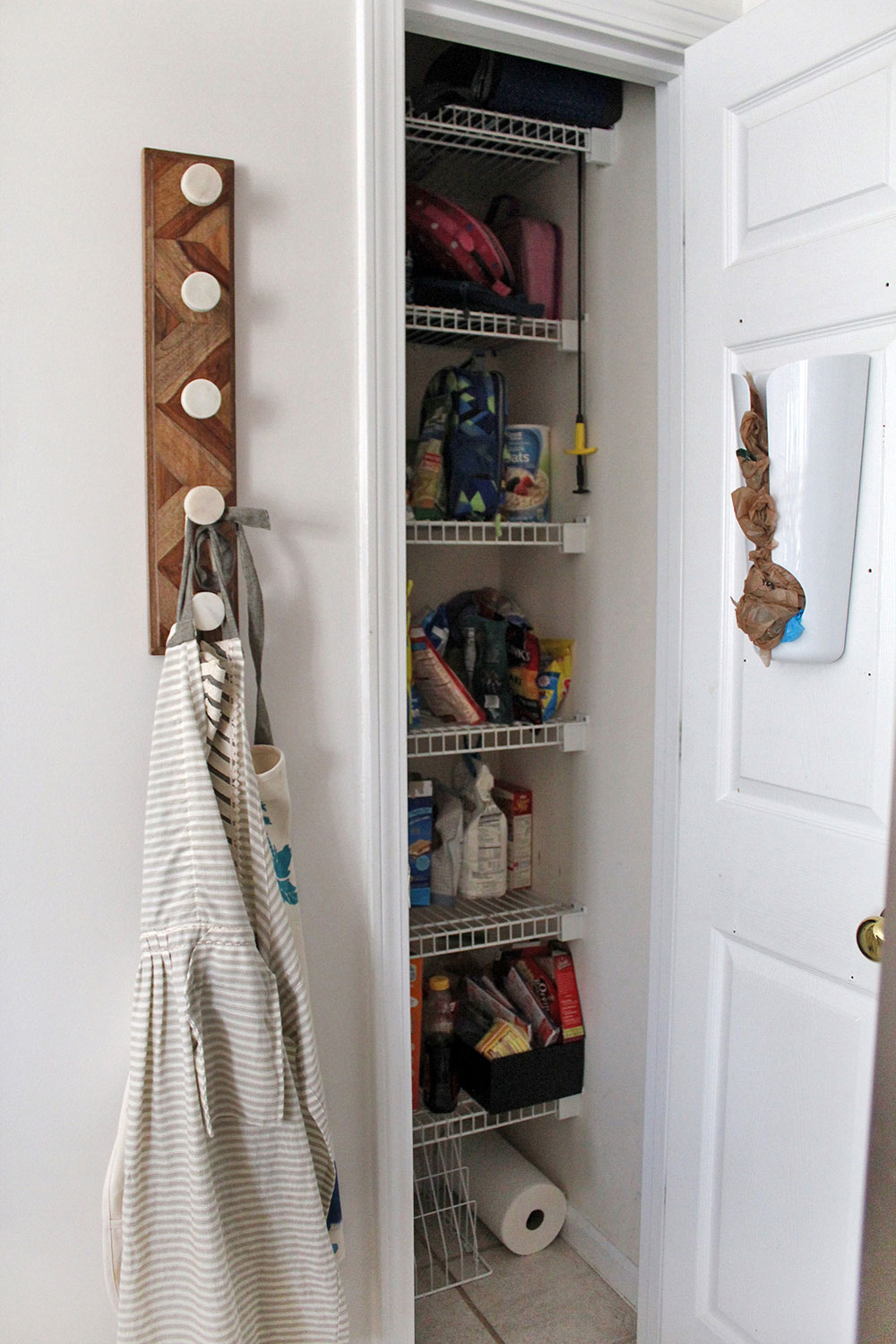 small kitchen pantry (before makeover!)