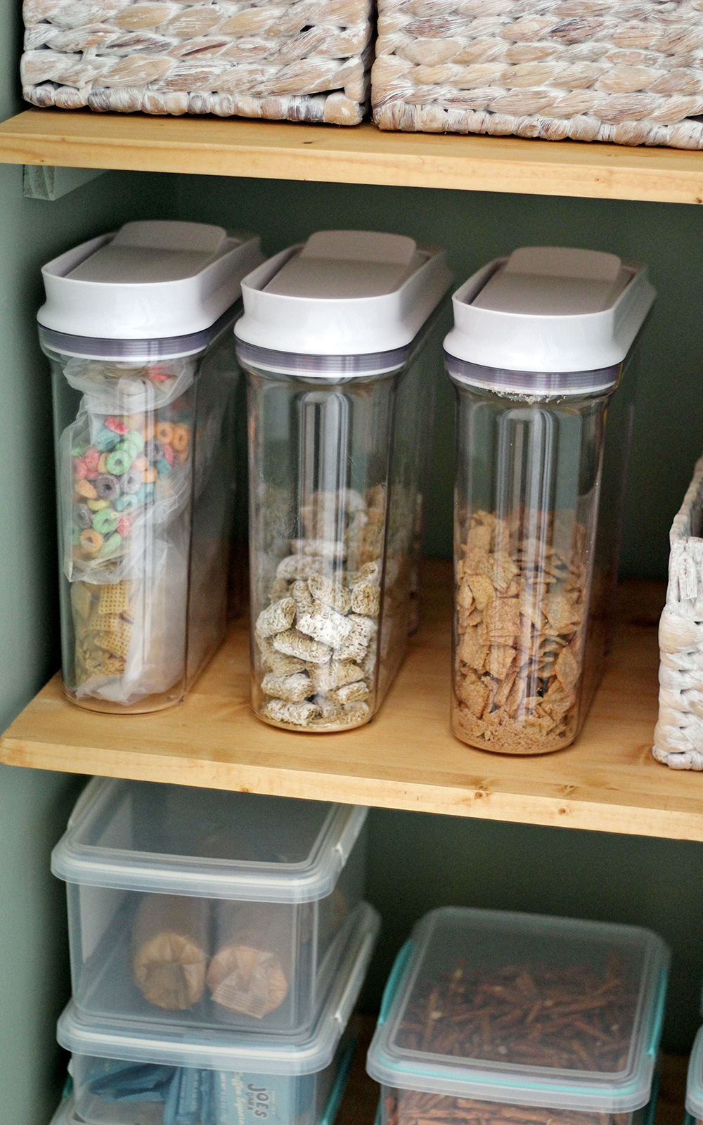 Use Clear Containers   practical tips for storing more in a kitchen pantry