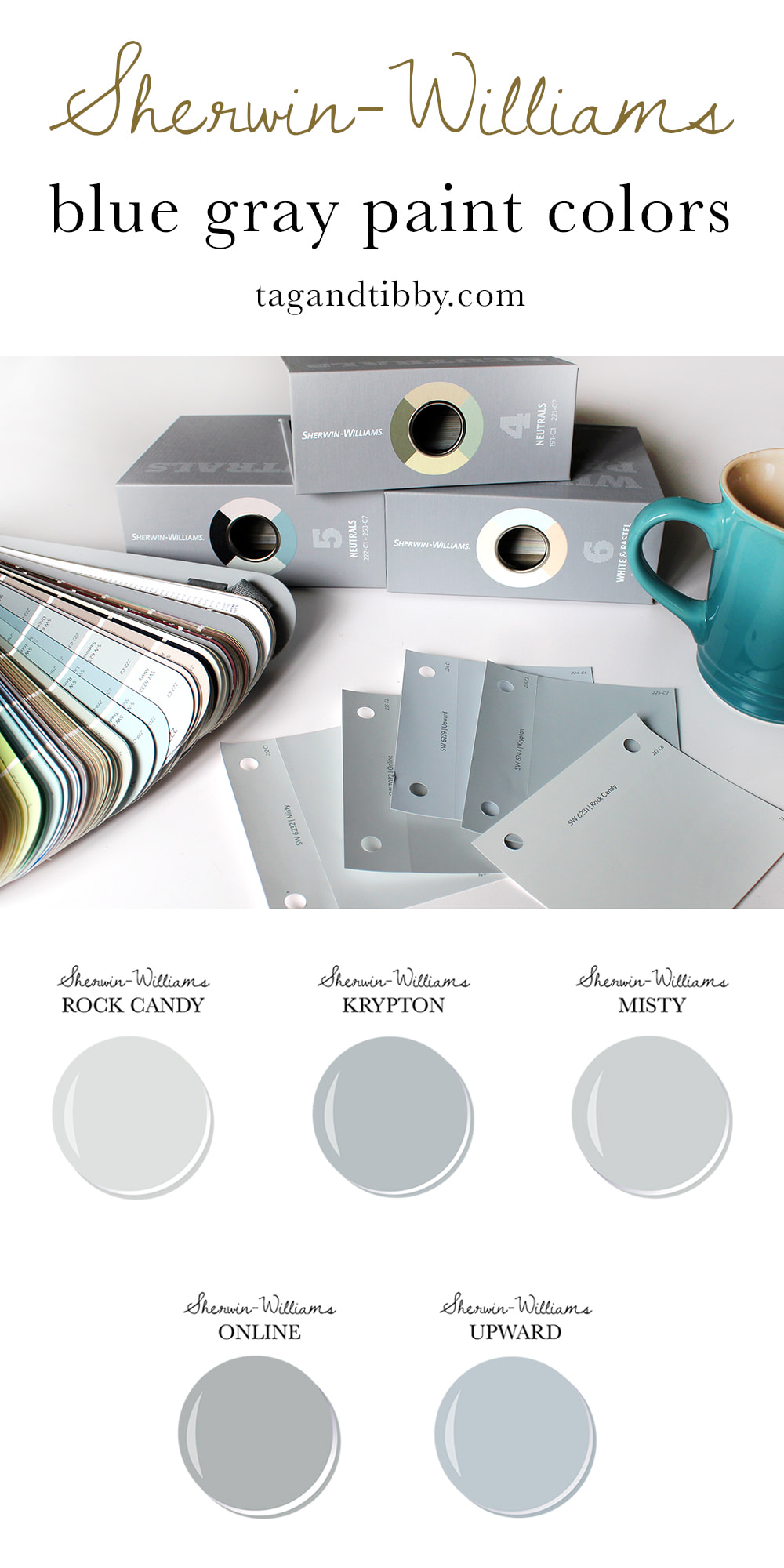 5 favorite blue gray Sherwin Williams paint colors #DIYhome #paintcolors