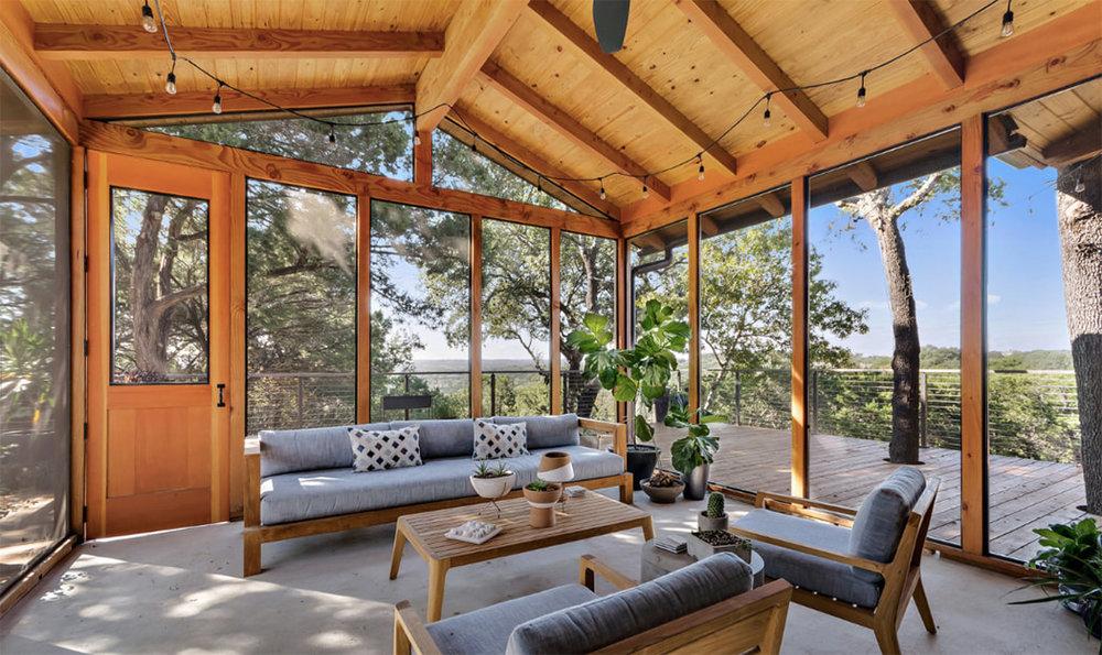 Rustic-Modern Porch. Image Source: Fazio Architects
