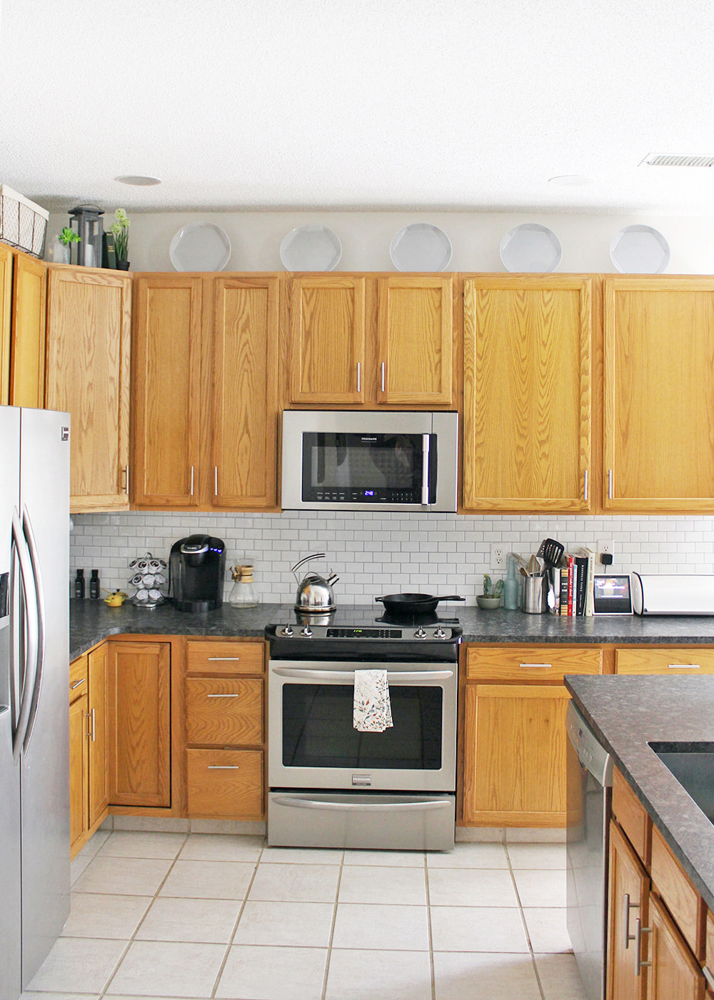Decorating Over Kitchen Cabinets For Under 60 Tag Tibby Design