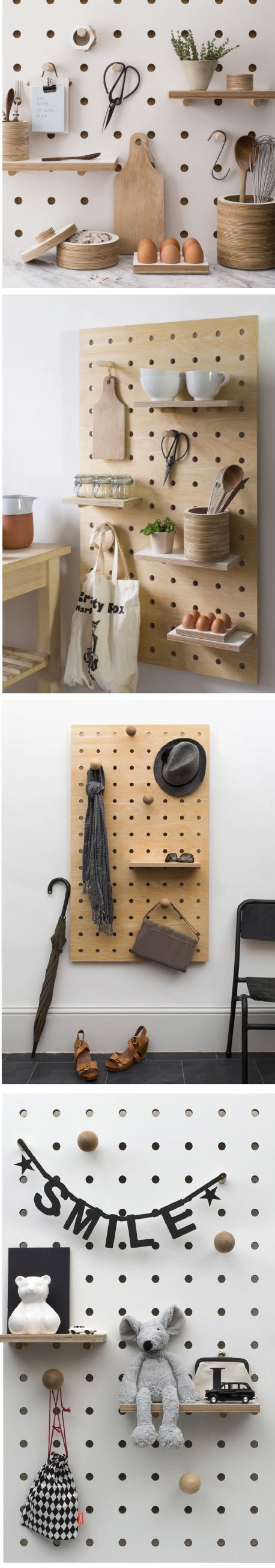 Adjustable Peg Board Shelving