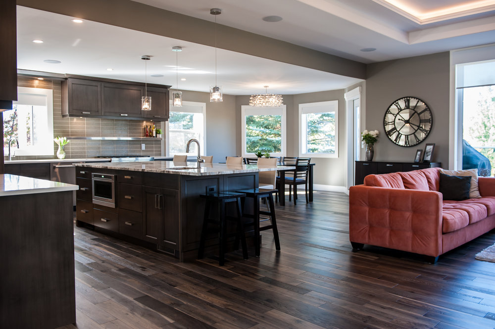open concept kitchen living