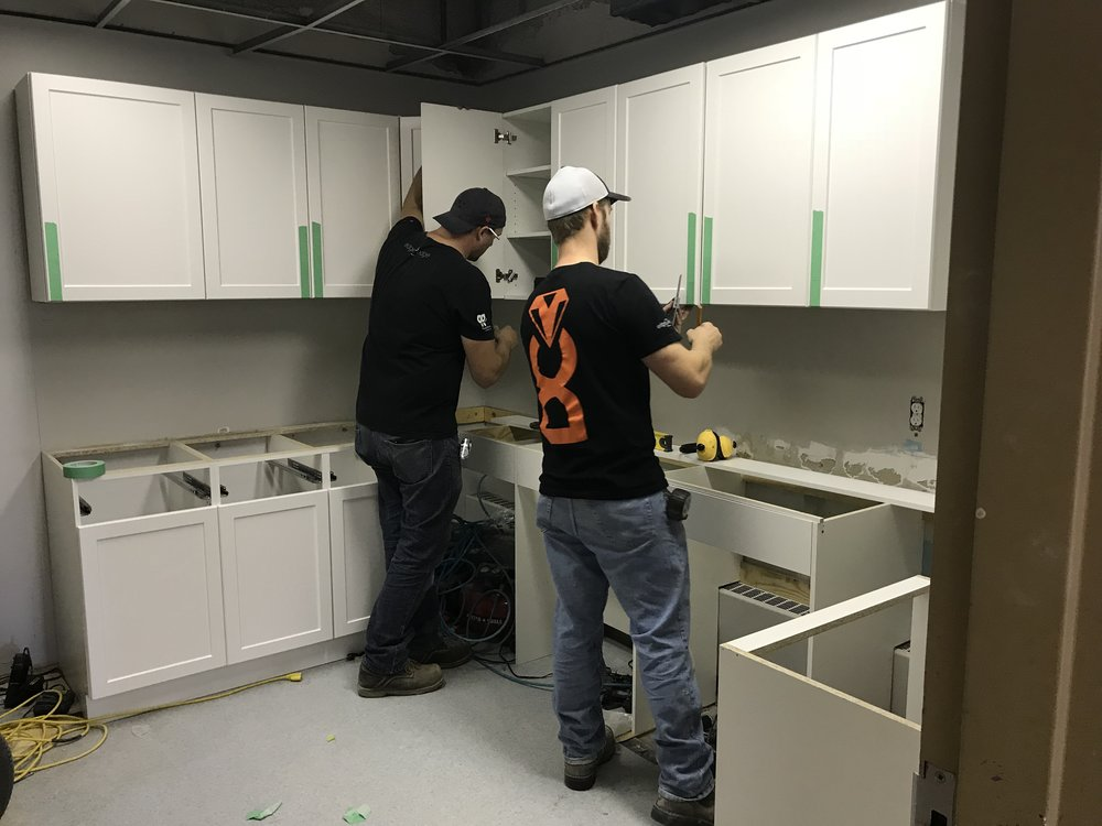 Installing new cabinetry