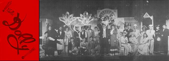 Hello Dolly program and cast photo.