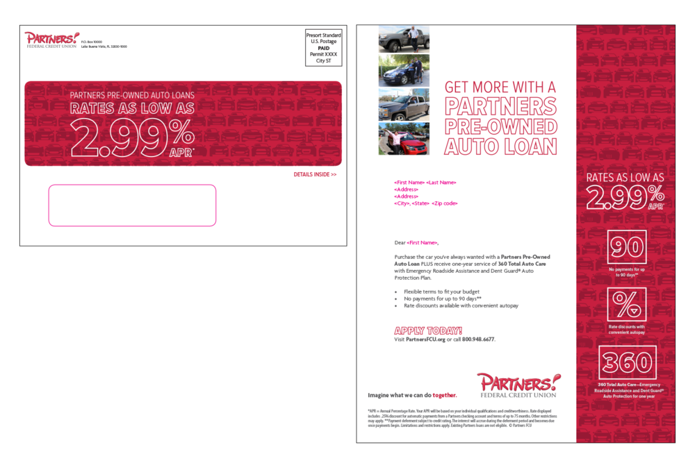 Letter and envelope for pre-owned vehicles - Mailer #2
