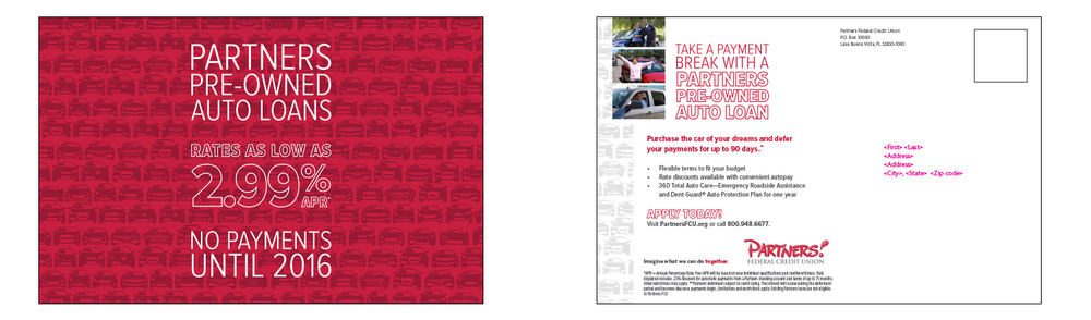 Post card for pre-owned vehicles - Mailer #3