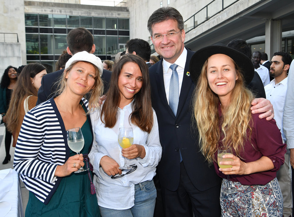 Dream Team aka Me, Klaudia Medlova, President of The UN Mr Lajčák & Chanelle Sladics