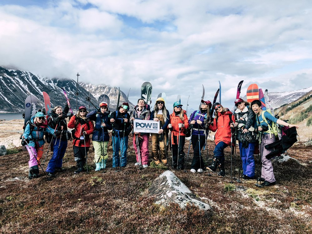 During  @bprsnt  women's adventure retreat in Lofoten Norway we got together a global community and brought a  #pow  flag out with us hiking the mountains. As a community of mountain loving, outdoorsy women, we hope to help create awareness around  #pow