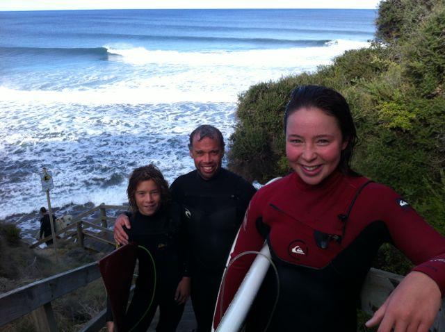 Jon surfing
