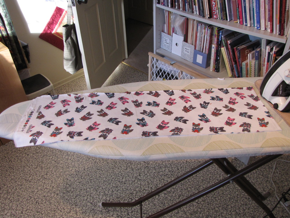 My fabric doubled on the ironing board.