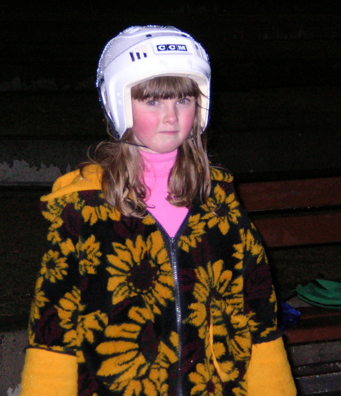 10 years ago - my daughter skating in the Best. Coat. Ever. She wore this one for years.