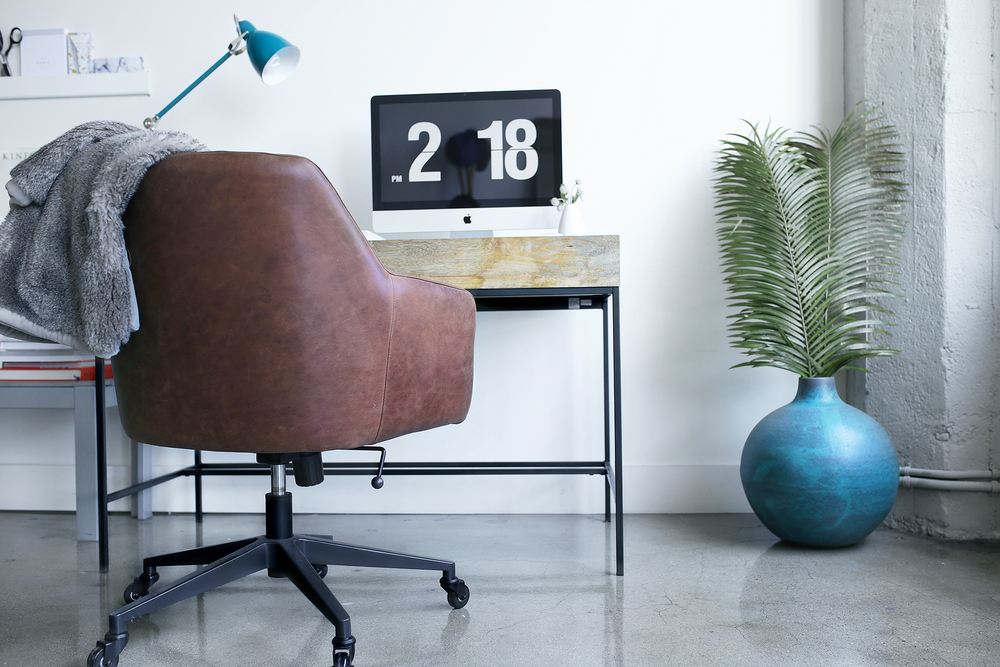 West Elm  Vase ,  Desk Chair ,  Desk