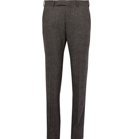Grey Slim-Fit Checked Stretch-Wool Trousers.jpg