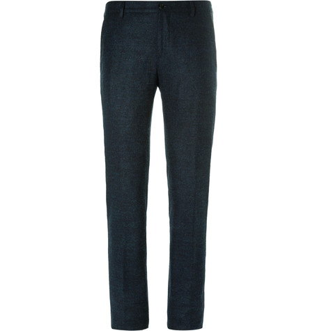 Blue Slim-Fit Mélange Alpaca-Blend Trousers.jpg