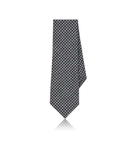 Alexander Olch Men's Gingham Brushed Cotton Necktie