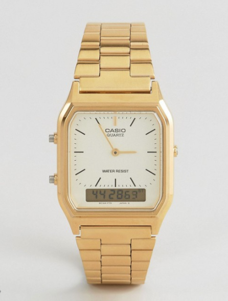 Casio Digital Bracelet Watch - Gold