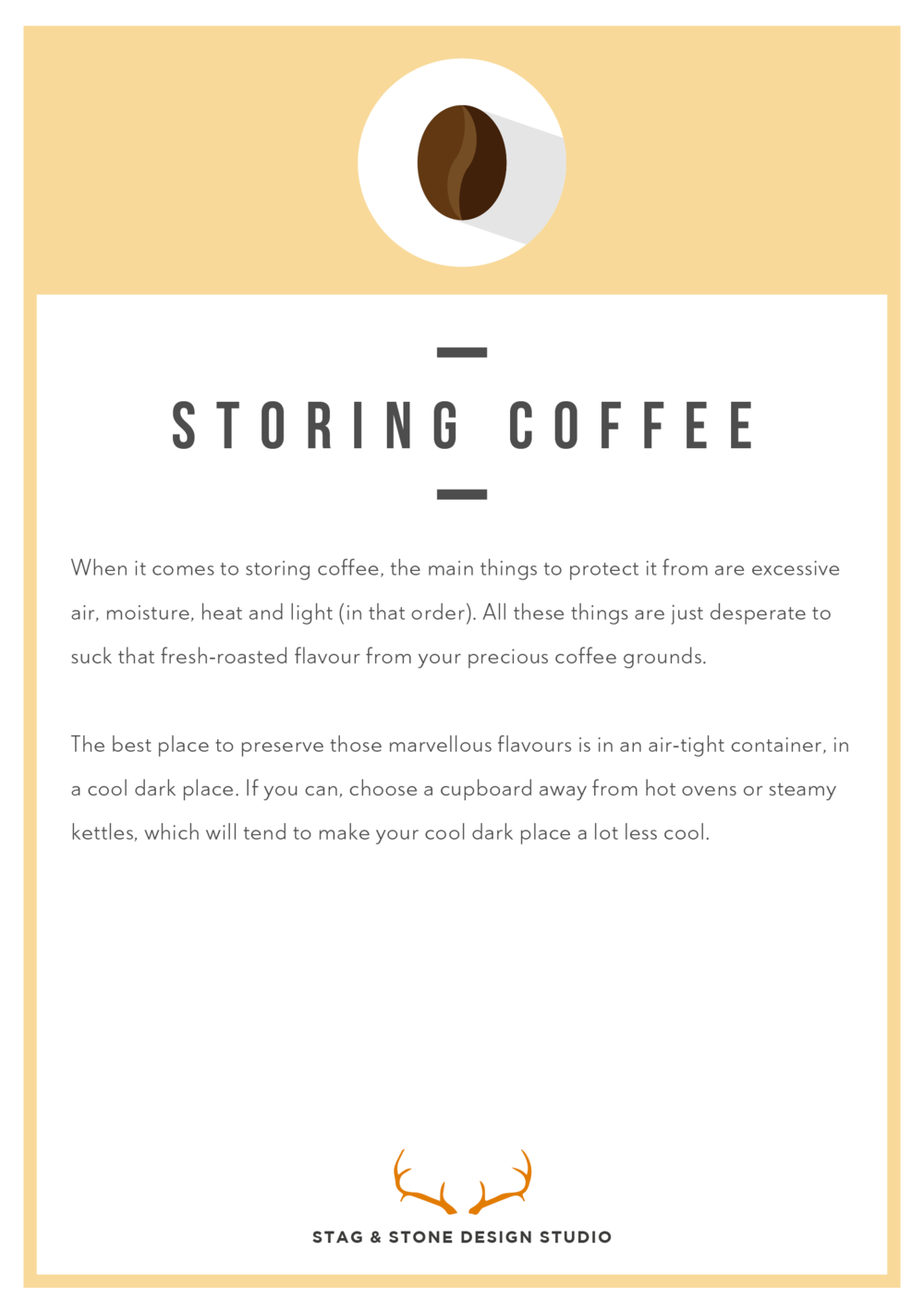 Storing Coffee Instructions