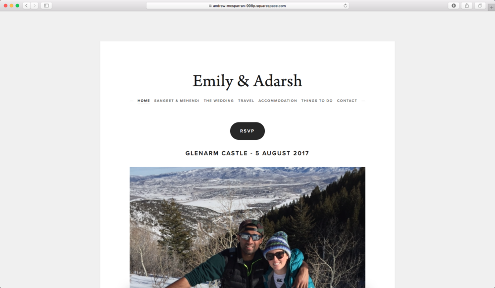 Emily & Adarsh - Home Page