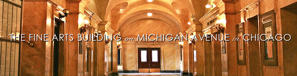 We are located in the beautiful and historic Fine Arts Building along the  Chicago Cultural Mile .