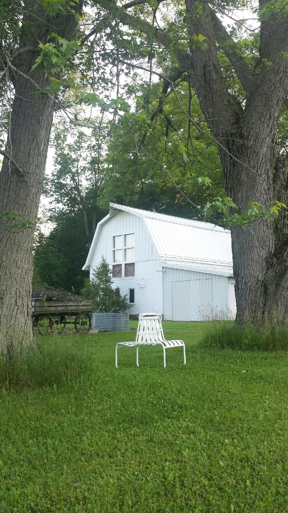 This barn is on the property where our group music-making will take place.