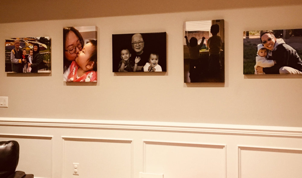 Our own memorable moments of precious family time captured on camera and then turned into canvasses.