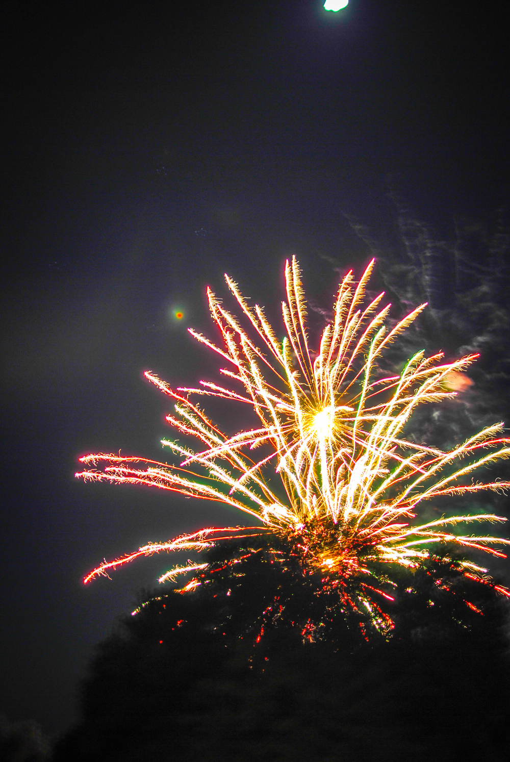 Krause Springs fireworks show.