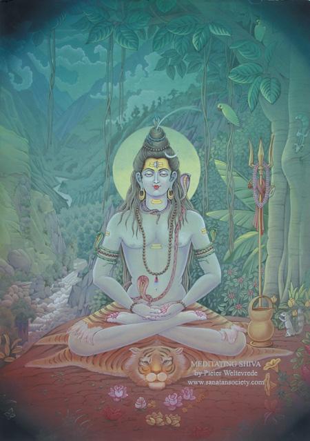 Meditating Shiva - By: Pieter Weltevrede