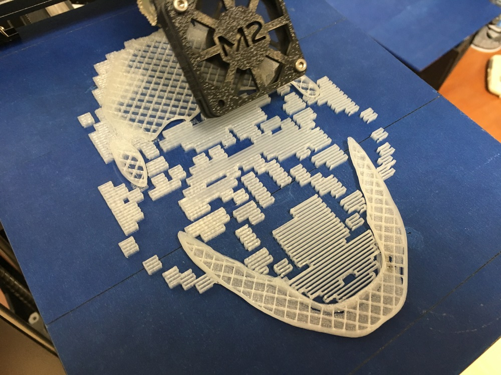 Starting the 3D print