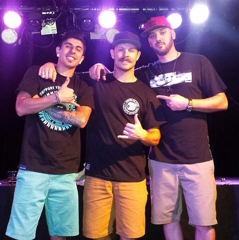 THOM STOCKTON TRIO: (L to R) Jesse Salazar, Thom Stockton & DJ Epik.