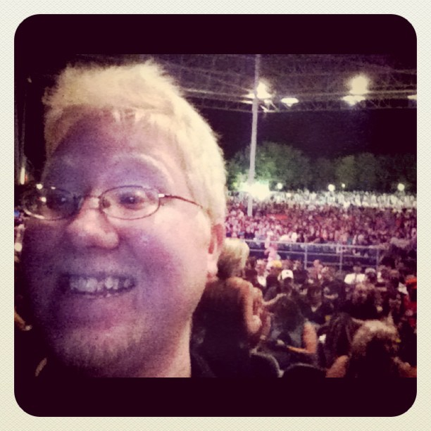 In the media pit in front of the stage for Def Leppard!!! (Taken with  instagram )