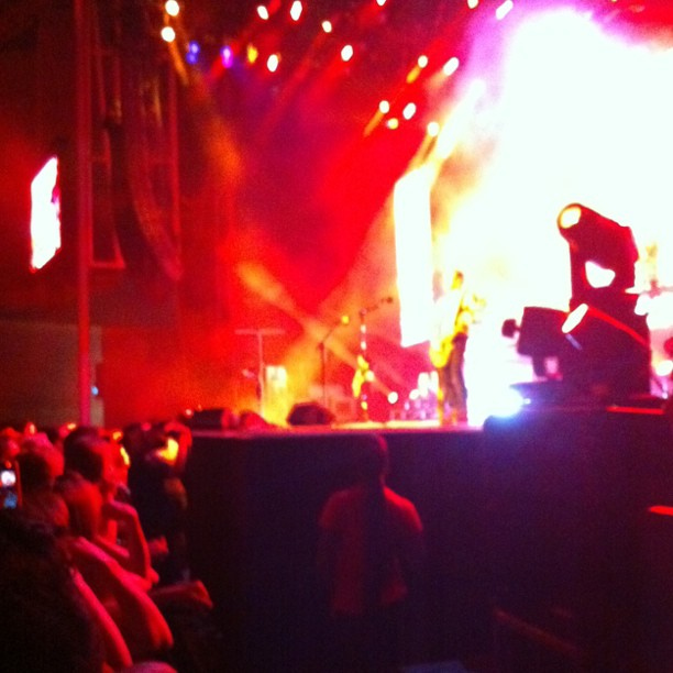 Sort of a better shot of Def Leppard from where I'm standing (Taken with  instagram )
