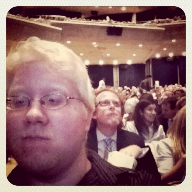 In 2nd row at Roy Thompson Hall waiting for the TIFF movie to start! (Taken with  instagram )