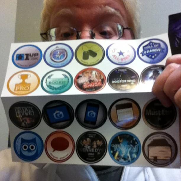 Got my first batch of @GetGlue Stickers!  Booya! (Taken with  instagram )