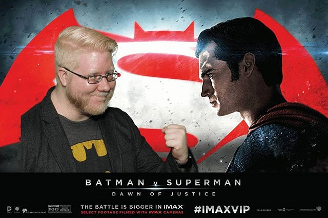 Got this photo taken at the #IMAXVIP Batman v Superman event :)