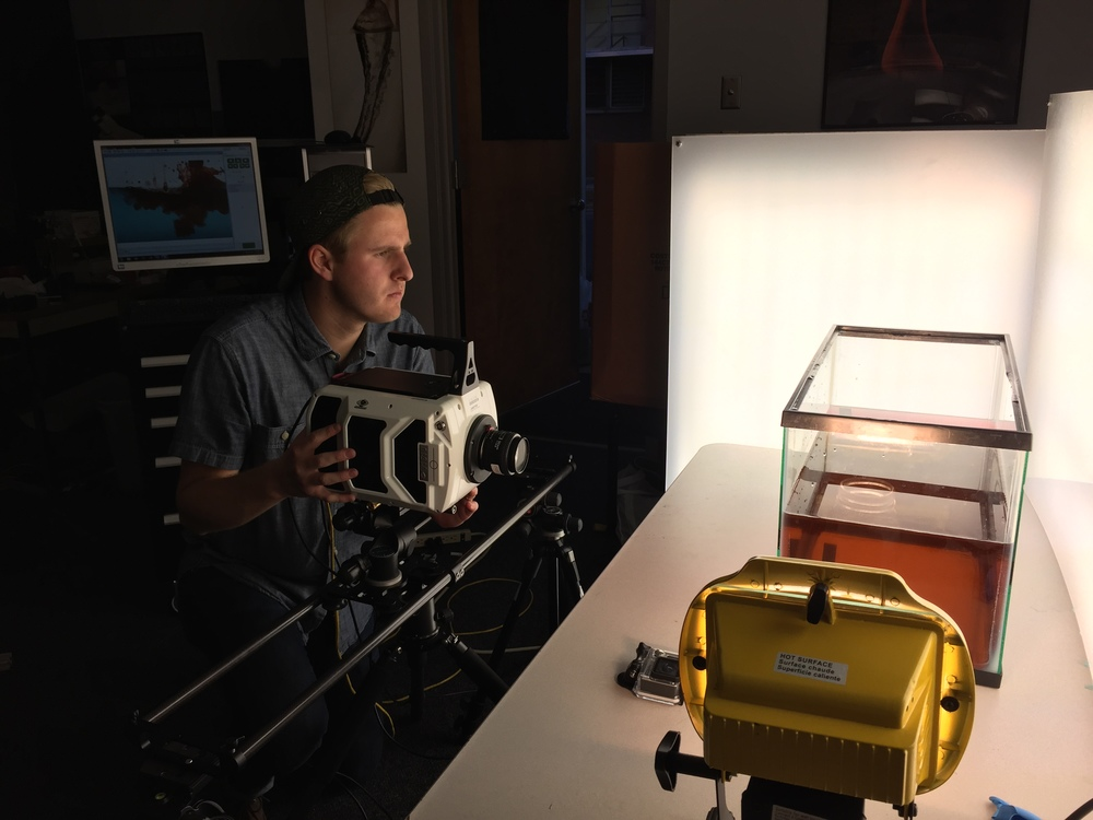 Co-Founder Kip Hacking shooting high speed footage with the Phantom v1610 and Nebo Slider.