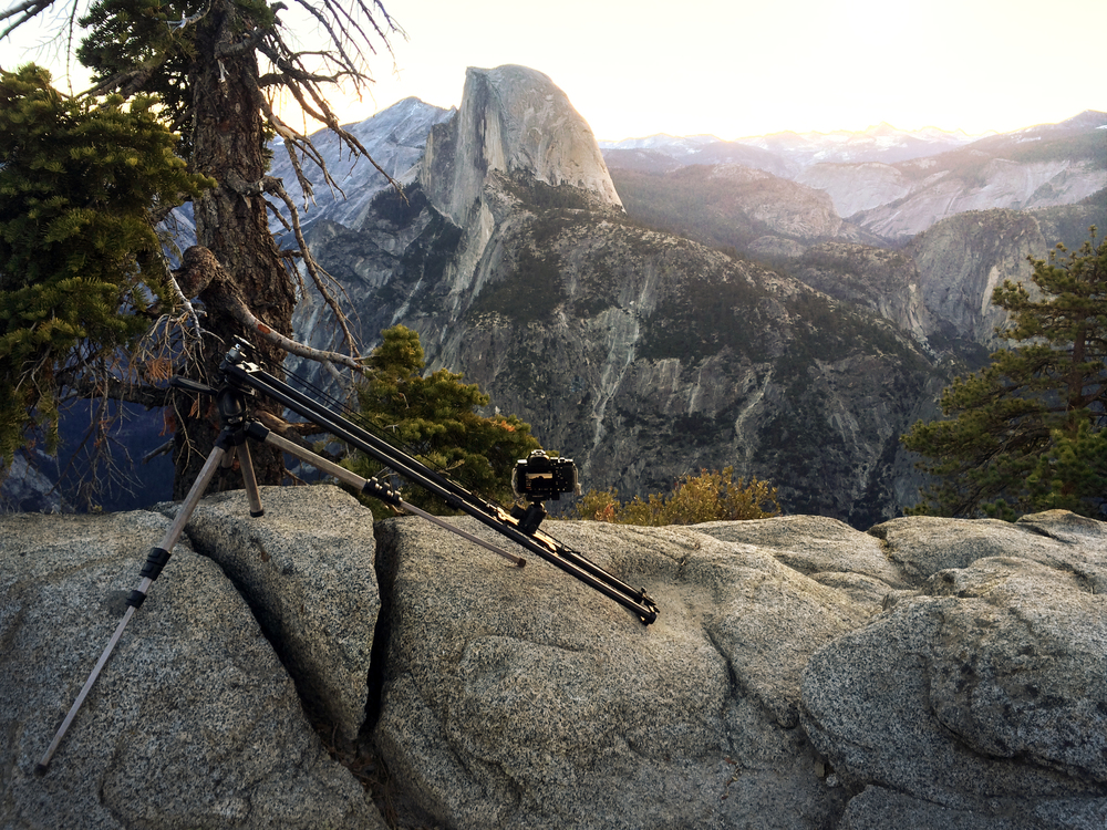 Bruce using the Nebo Slider in Yosemite.