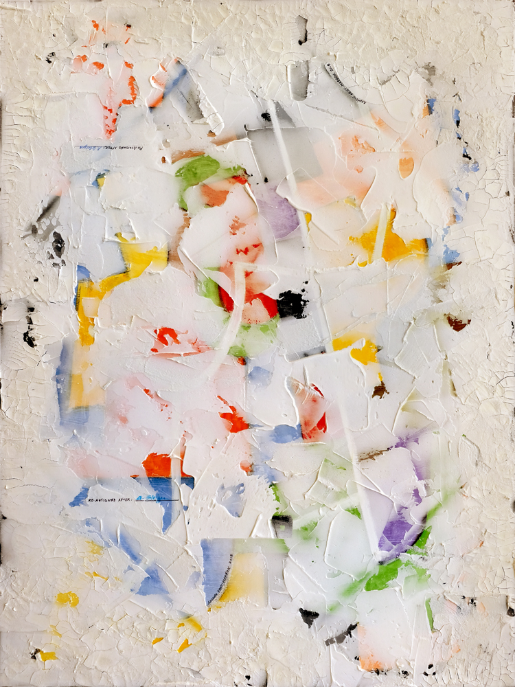 Académie Moderne (1920-1929)   2018  Watercolor, oil, acrylic and plaster on canvas  36 x 48 inches