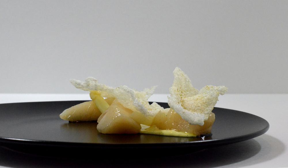 Scallop, Chamomile, White Asparagus