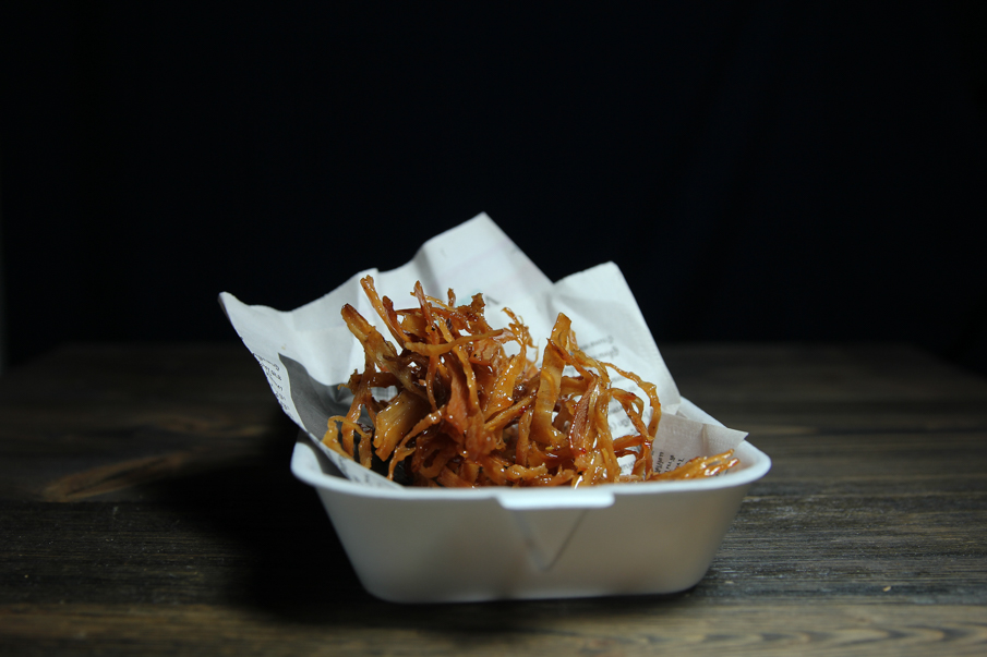 Dried Squid, Fried & Glazed