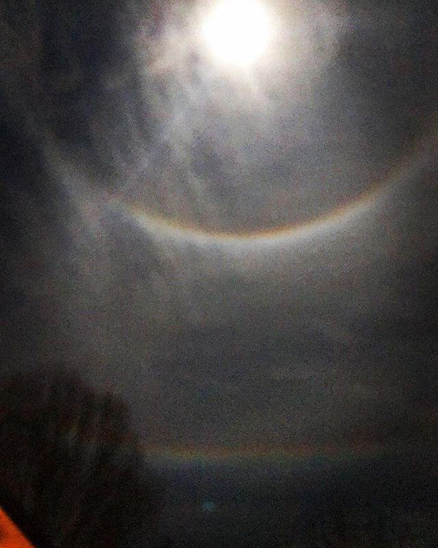 Double moon rainbow! 🌈 🌝