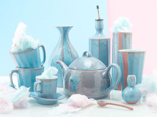 Did you know my favorite colors are pink and blue? 😍 I'm so excited about this batch of pots. Check them out in @thebrightangle shop - these are really special. 🎉