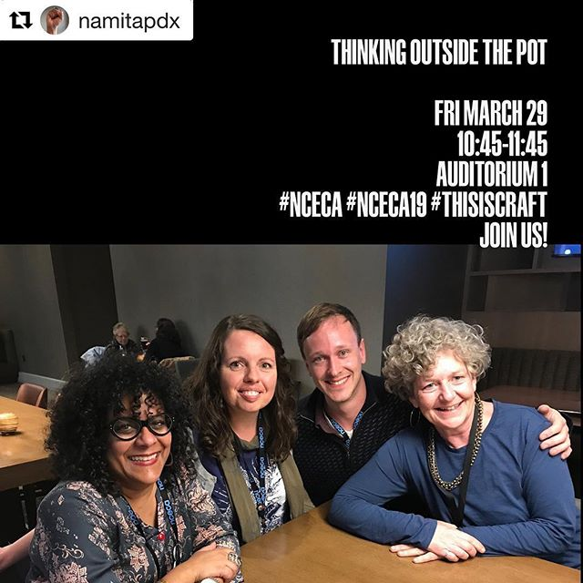 I'm so excited to be on a panel with @musingaboutmud @stephanieboydworks and @namitapdx - On Friday we are going to discuss how our creative practices extend outside of the pottery making process and what it looks like to explore ceramics through social engagement. If you are in Minneapolis at @nceca come say hi!
