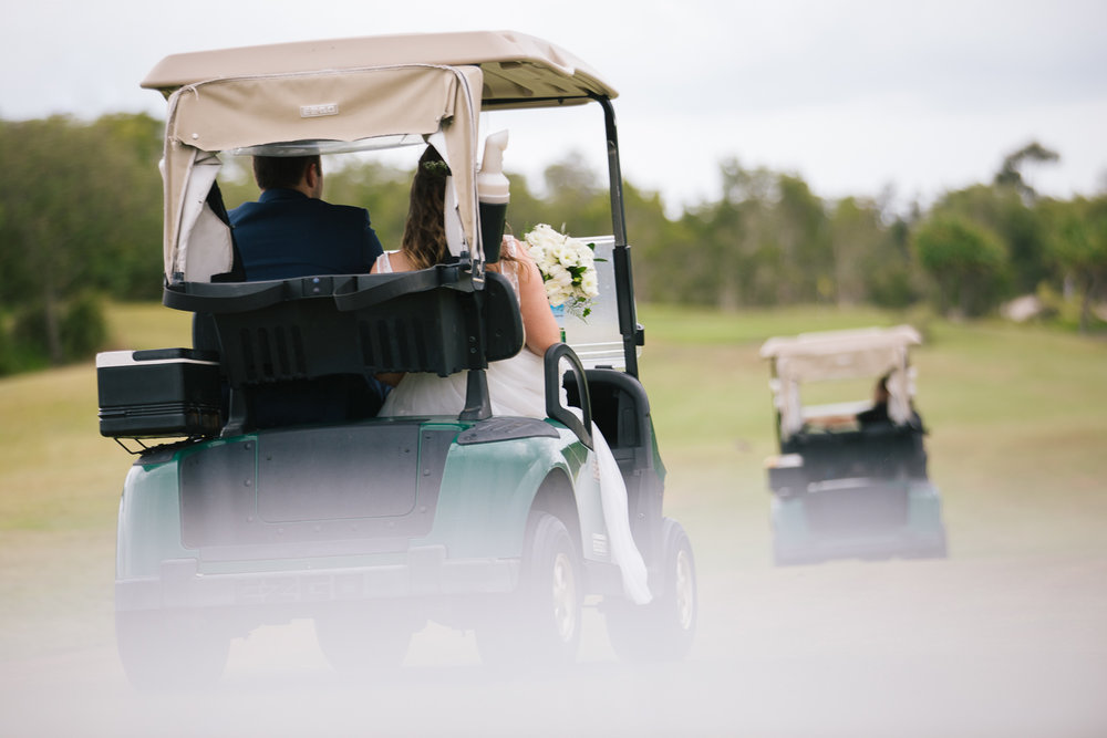 Brisbane Wedding Photographer - Golf cart