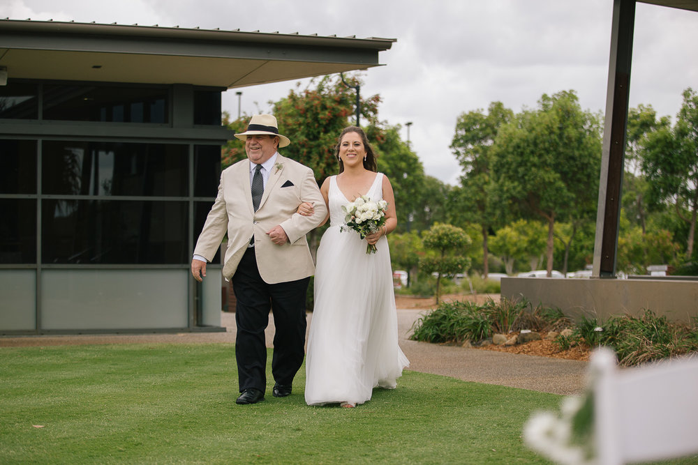 Brisbane wedding photographer - Bride and Father