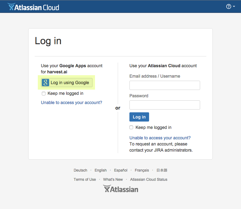 OAuth log in example: use your Google account to access Jira
