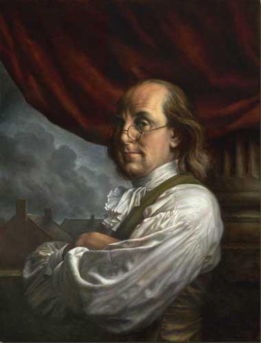 Benjamin Franklin arms crossed