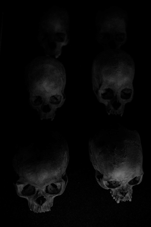 Skulls of Unknown Genocide Victims. Kigali, Rwanda.